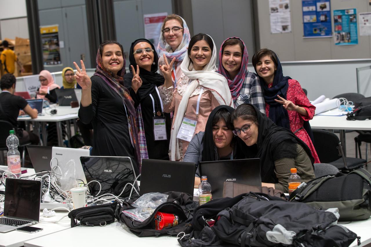 دختران نخبه ایرانی حاضر در مسابقات LEIPZIG
