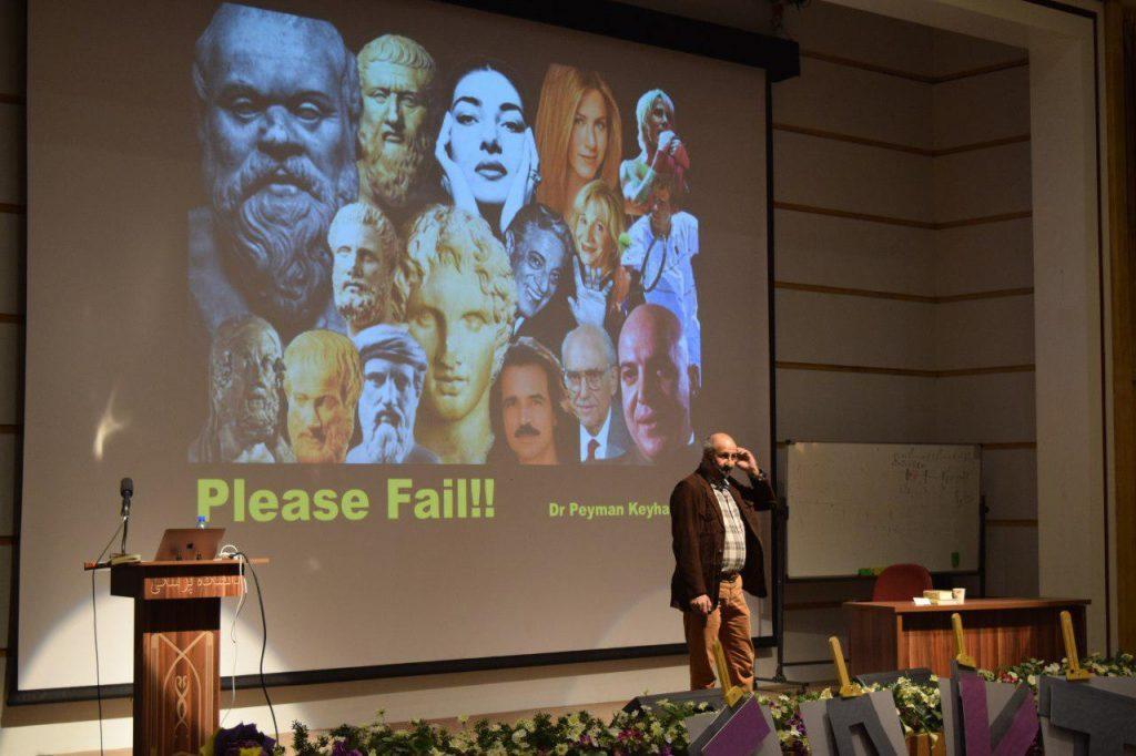 دکتر پیمان کیهان ور در حال ارائه سخنرانی در زمانی Jury delegation